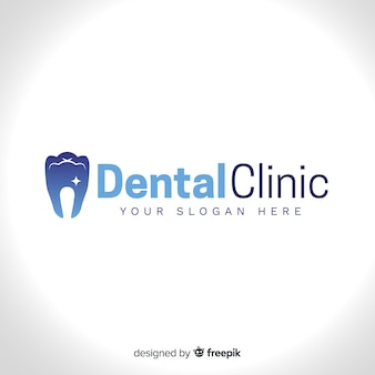 Logo de clínica dental gradiente