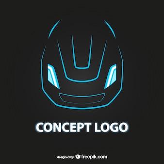 Logo de coche futurista