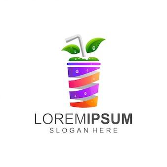 Logo de color de jugo