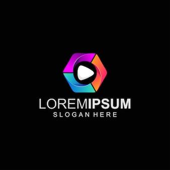 Logo de color de medios