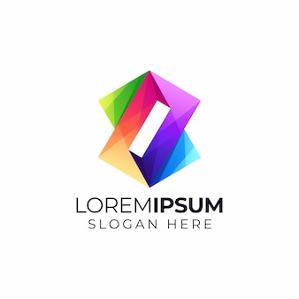 Logo colorido abstracto