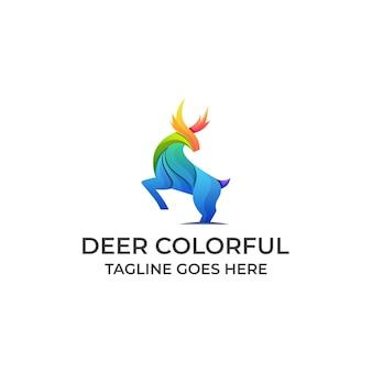 Logo colorido ciervo