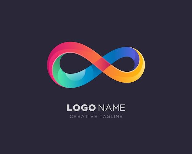 Logo colorido infinito