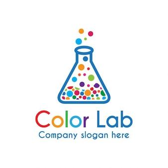 Logo colorido de laboratorio