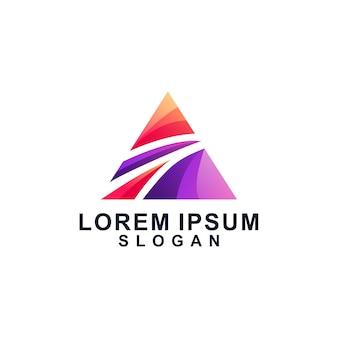 Un logo colorido