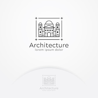 Logo de construcción de arquitectura