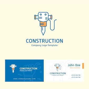 Logo de construcción y tarjeta de visita