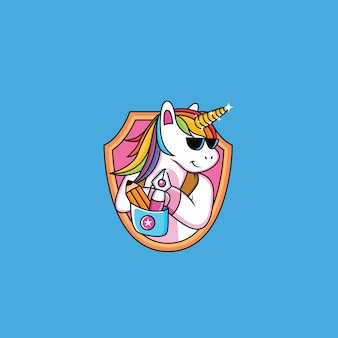 Logo cool unicorn
