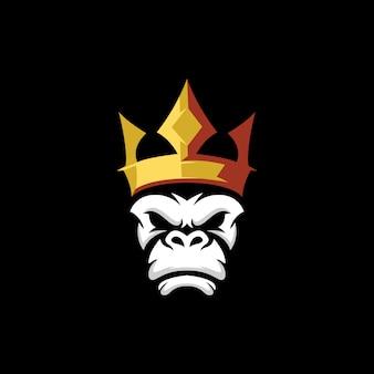 Logo de corona de mono