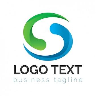 Logo corporativo verde y azul