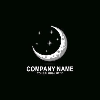 Logo creativo de luna creciente