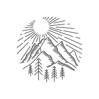 Logo creativo de montaña