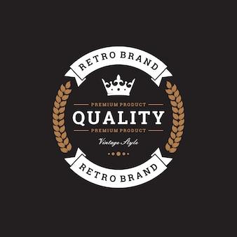 Logo creativo retro de la marca
