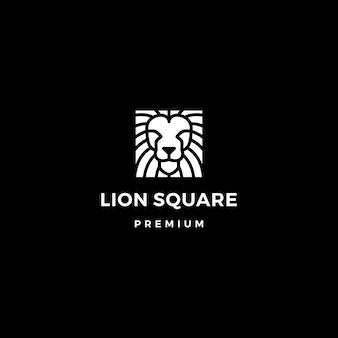 Logo cuadrado de león
