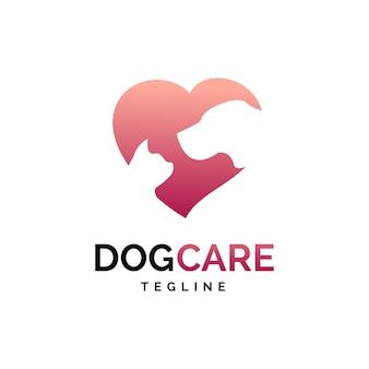 Logo de cuidado de animales