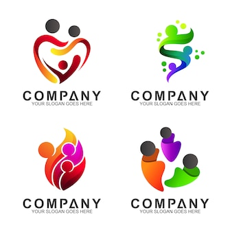 Logo de cuidado familiar