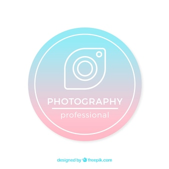 Logo de fotografía con colores degradados