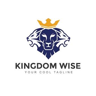 Logo de león con corona