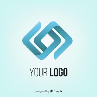 Logo con degradado con forma abstracta