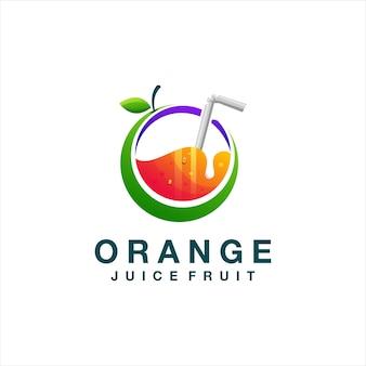 Logo degradado de jugo de naranja