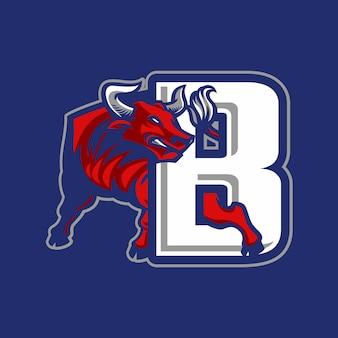 Logo de deporte de toro
