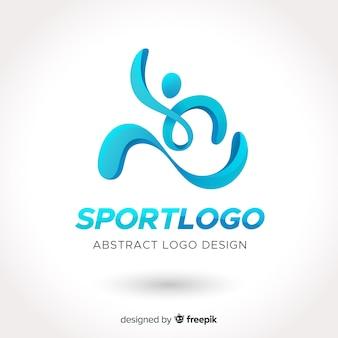 Logo deportivo abstracto diseño plano