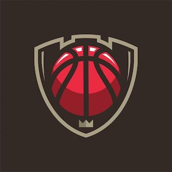 Logo deportivo de baloncesto