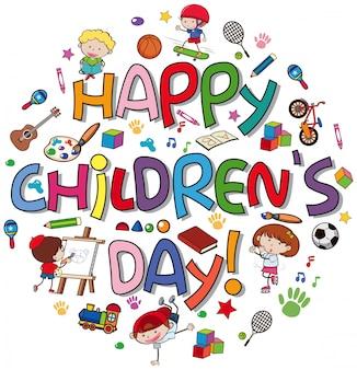 Logo del dia de los niños felices