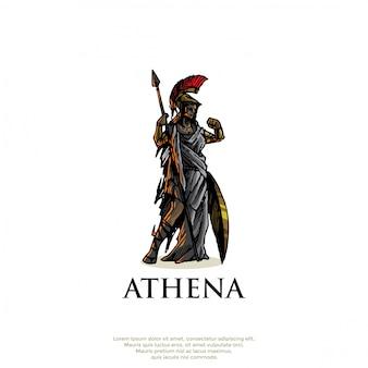 Logo de dios griego atenea