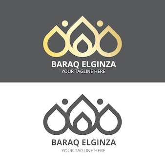 Logo de diseño abstracto en dos versiones