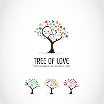 Logo con diseño de árbol