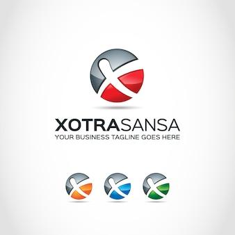 Logo con diseño de bola con x