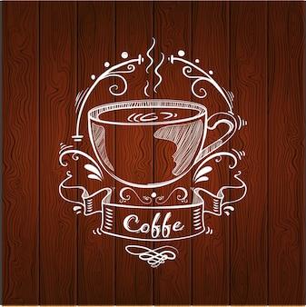 Logo con diseño de café