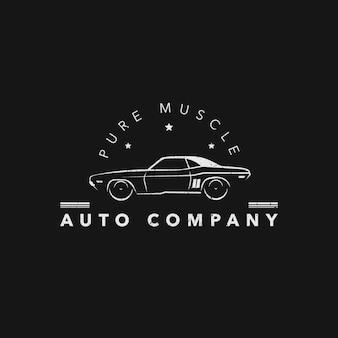 Logo con diseño de coche