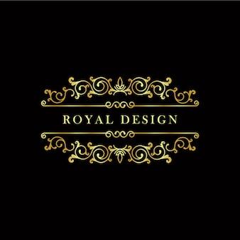 Logo con diseño dorado
