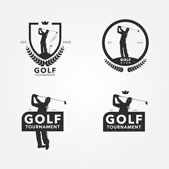 Logo con diseño de golf
