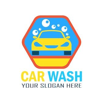 Logo con diseño de lavado de coches