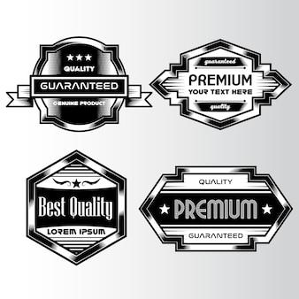 Logo con diseño plateado