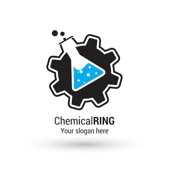 Logo con diseño químico