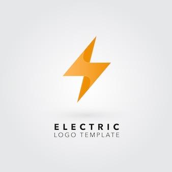 Logo con diseño de rayo