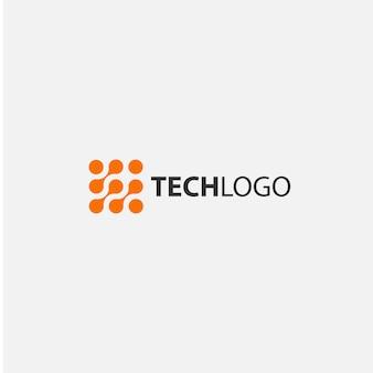 Logo con diseño tecnológico