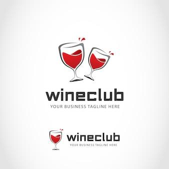 Logo con diseño de vino