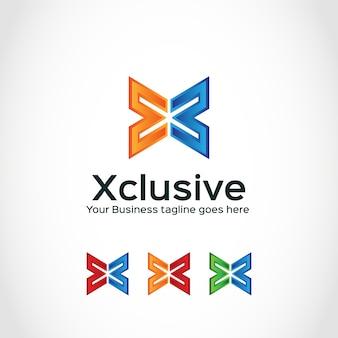 Logo con diseño de x