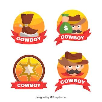 Logo divertido de cowboy