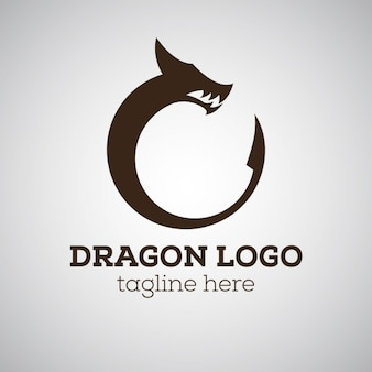 Logo de dragón con eslogan