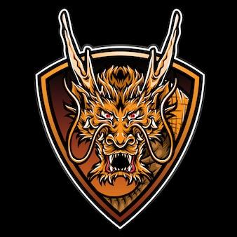 Logo de dragon de fuego