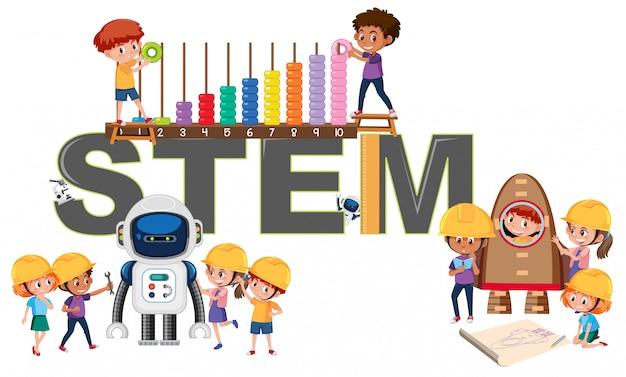 Un logo de educación stem.