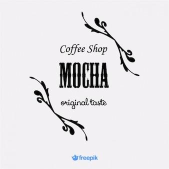 Logo elegante de cafetería mocha