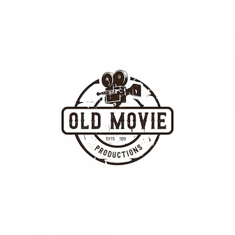 Logo emblema de cineasta vintage