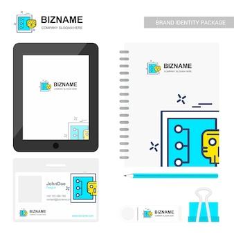 Logo empresarial y diseño estacionario